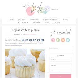 Elegant White Cupcakes - i am baker