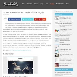 40 Elegant, Minimal And Clean WordPress Themes For Free Download