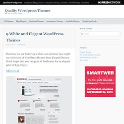 9 White and Elegant WordPress Themes