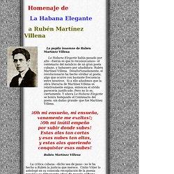 La Habana Elegante - Homenaje a Rubén Martínez Villena