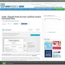 cvmkr – Elegante forma de crear y publicar nuestro Currículum Vítae