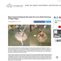 Misty Copeland Elegantly Recreates the Iconic Ballet Paintings of Edgar Degas