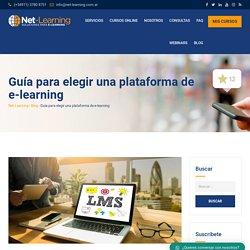 Guía para elegir una plataforma de e-learning