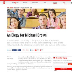 An Elegy for Michael Brown