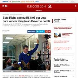 Beto Richa gastou R$ 8,98 por voto para vencer eleição ao Governo do PR - notícias em Eleições 2014 no Paraná