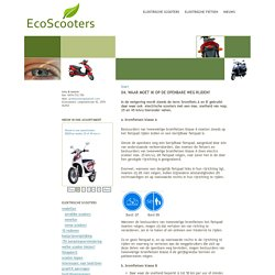 Elektrische scooters België - EcoScooters - E-scooters