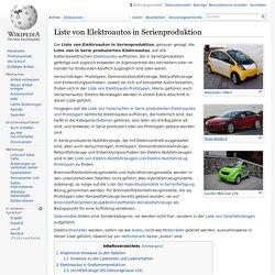 Liste von Elektroautos in Serienproduktion