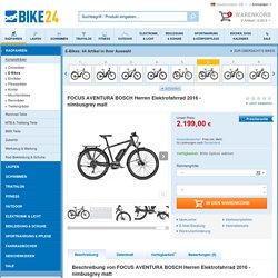 FOCUS AVENTURA BOSCH Herren Elektrofahrrad 2016 - nimbusgrey matt - Bike24