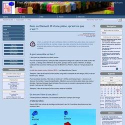 Item ou Element ID d'une pièce, qu'est ce que c'est ? - FreeLUG : French Enthusiasts LEGO Users Group