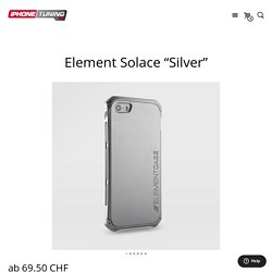 """Element Solace """"Silver"""" - iPhone Tuning Shop iphone-tuning.ch"""
