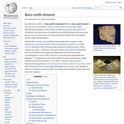 Rare earth element