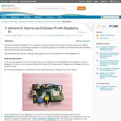 How to use EnOcean Pi with Raspberry Pi