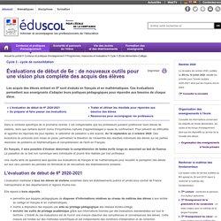 Cycle 3 (École élémentaire-Collège) - Évaluations de 6e 2020-2021