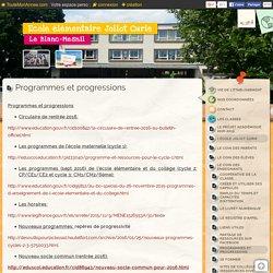 Progressions de l'école (cf. doc)