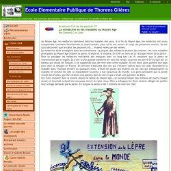 Ecole Elementaire Publique de Thorens Glières - La médecine et les maladies au Moyen Age