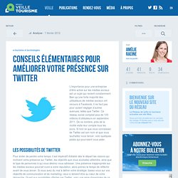 Twitter : conseils d'utilisation