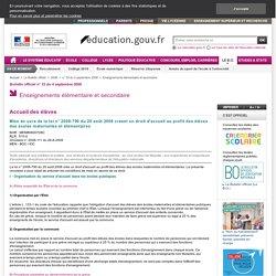 SMA - Mise en oeuvre de la loi n° 2008-790 du 20 août 2008 créant un droit d'accueil au profit des élèves des écoles maternelles et élémentaires - Menb0800708c