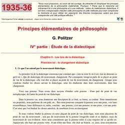 Politzer : Principes élémentaires de philosophie (15)