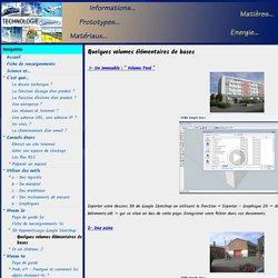 Quelques volumes élémentaires de bases - Technologie - Collège GAMBETTA