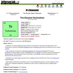 It's Elemental - The Element Technetium