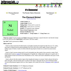 The Element Nickel