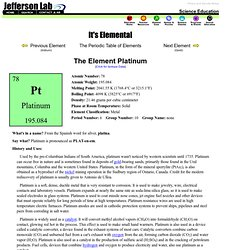 The Element Platinum
