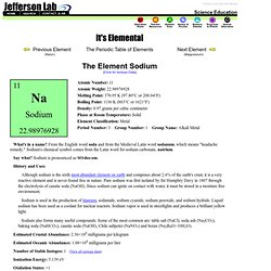 The Element Sodium