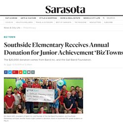 Southside Elementary Receives Annual Donation for Junior Achievement 'BizTowns'