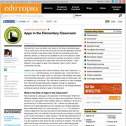 Apps in the Elementary Classroom