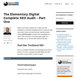 The Elementary Digital Complete SEO Audit - Part One
