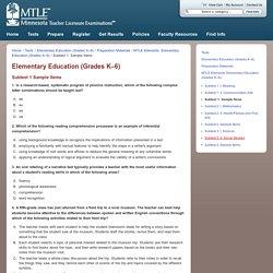 Elementary Education (Grades K–6)