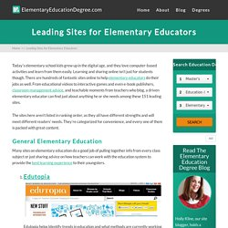 Leading Sites for Elementary Educators » Elementary Education Degree