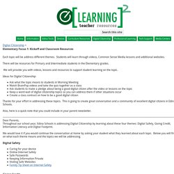 Elementary Focus 1: Kickoff and Classroom Resources - elearning2