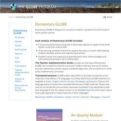 Elementary GLOBE - GLOBE.gov