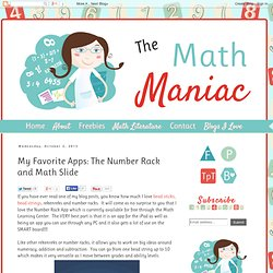 My Favorite Apps: The Number Rack and Math Slide