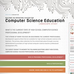 Computer Science - Landscape Study - The Center for Elementary Mathematics and Science Education