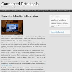 Connected Education is Elementary
