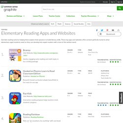 Elementary Reading Apps and Websites