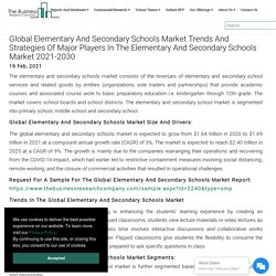 Global Elementary And Secondary Schools Market Data And Industry Growth Analysis