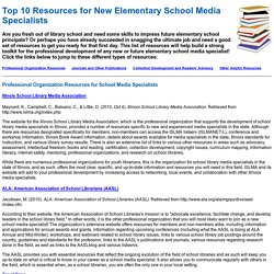 Top 10 Resources for New Elementary School Media Specialists