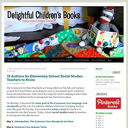 10 Authors for Elementary School Social Studies Teachers to Know