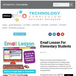 Email Lesson for Elementary Students - Technology Curriculum