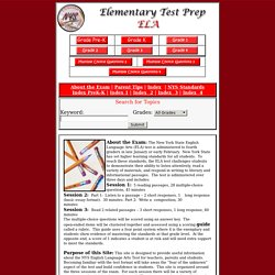 Elementary Test Prep Center- ELA 4 Test