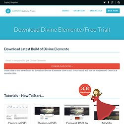 Divine Elemente. Download plugin for photoshop