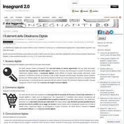 Insegnantiduepuntozero - I 9 elementi della Cittadinanza Digitale