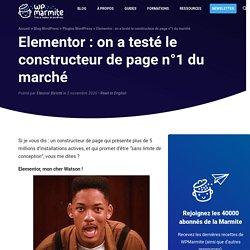 Elementor : le test ultime du constructeur de page WordPress