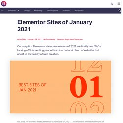 Sites of January 2021
