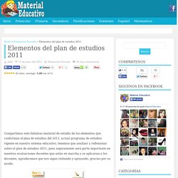 Elementos del plan de estudios 2011