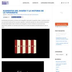 Elementos del diseño y la historia de la tipografía
