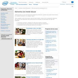 Elementos de Intel Educar